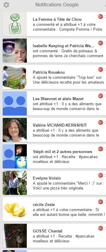 activité Google+