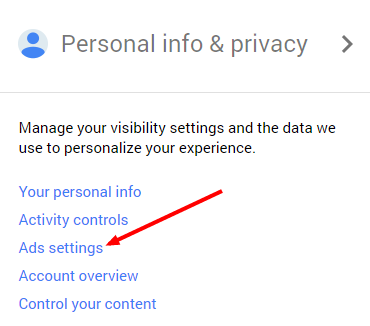 1 compte Google paramétrage des publicités