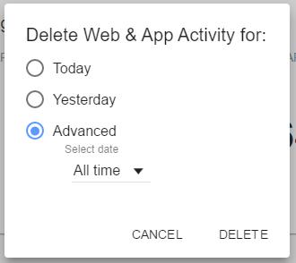 effacer tout votre historique de Google