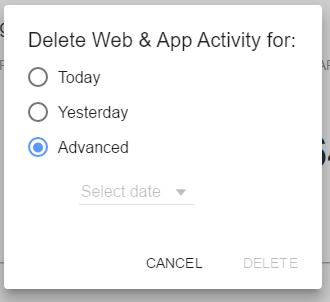 effacer votre historique de Google