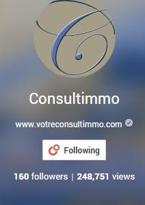 page Google+ de Consultimmo, 248.000 visites!