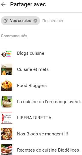publier dans les communautés Google+
