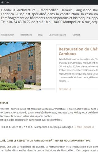 Réferencement du site d'architecte