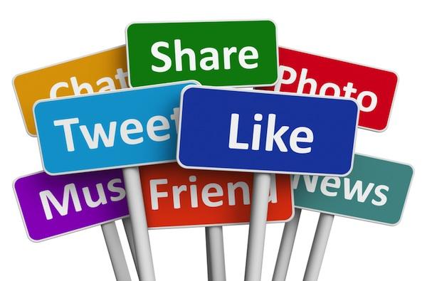 signes des réseaux sociaux