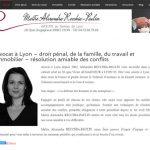 Site web d'une avocate à Lyon