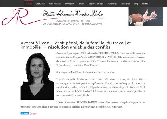 11 – Site web d'une avocate à Lyon