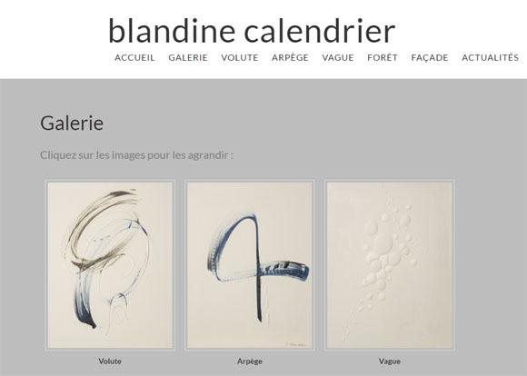 10 – site web d'une artiste