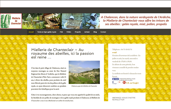 05 – site web miellerie