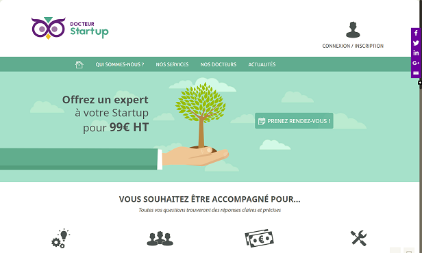 01- site web des startup